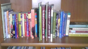 This shelf covers middle ages through modern history - though many of the modern history books are pulled right now in my 4th grade pile. ;)