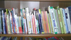 Earth & Space, Chemistry, and some living math books.
