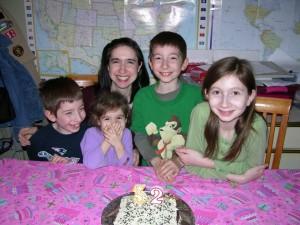 Celebrating my birthday two years ago.