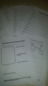 Vocabulary and Field Guide activity pages