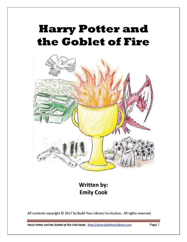Harry Potter Book Cover Analysis : Unit study harry potter and the goblet of fire build