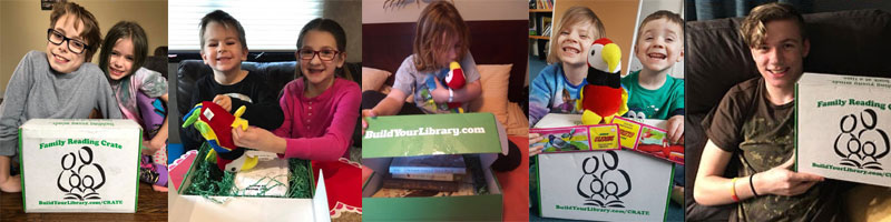 What makes BYL Family Reading Crates different from other subscription book boxes?